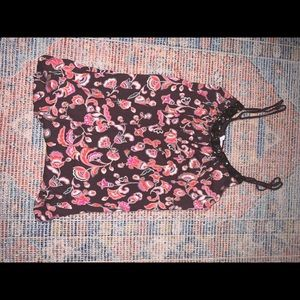CANDIES brown and pink tank top